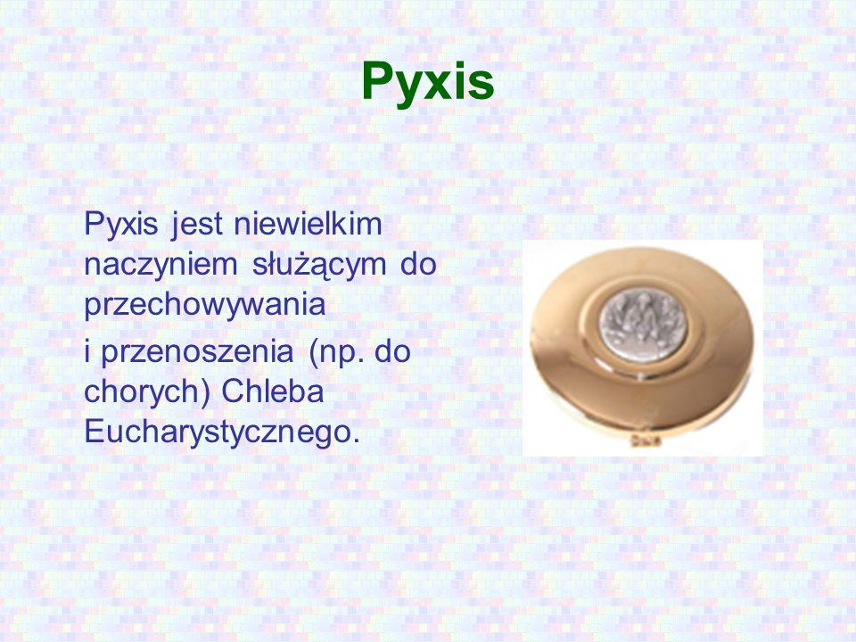 Pyxis Pyxis jest niewielkim naczyniem służącym do przechowywania