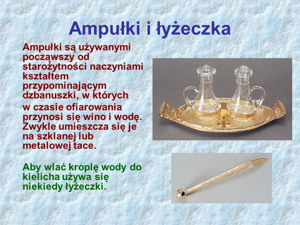 Ampułki i łyżeczka Ampułki są używanymi począwszy od starożytności naczyniami kształtem przypominającym dzbanuszki, w których.
