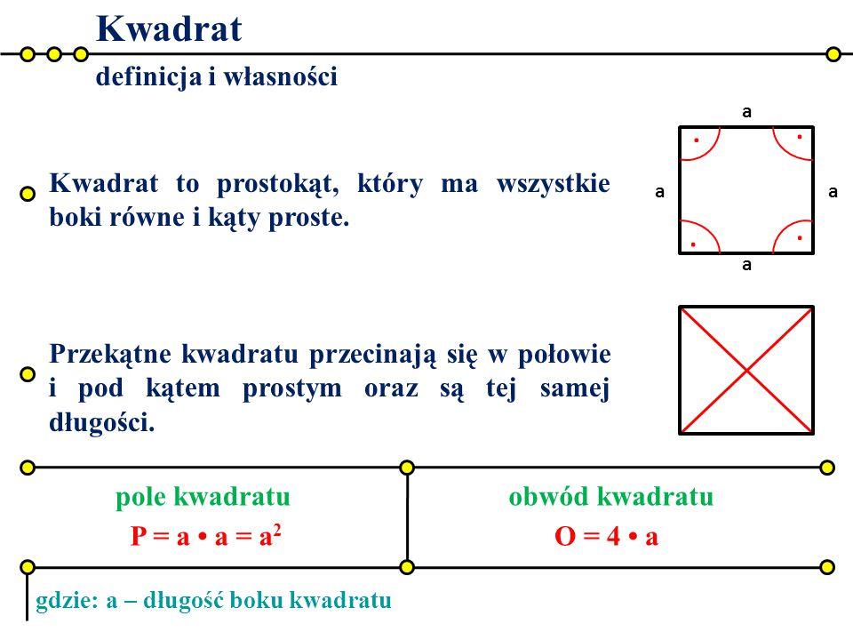 Kwadrat . . . . definicja i własności