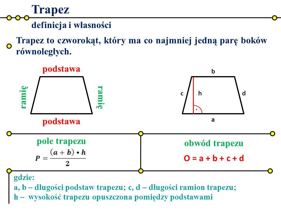 Trapez . definicja i własności