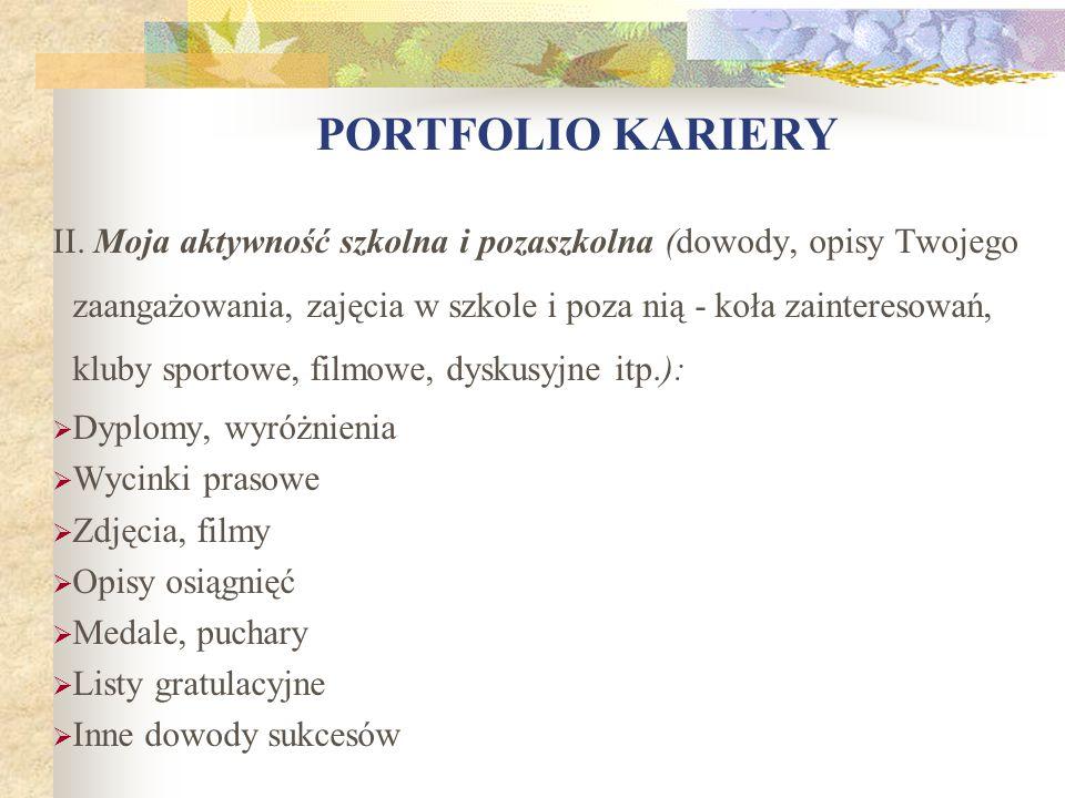 PORTFOLIO KARIERY