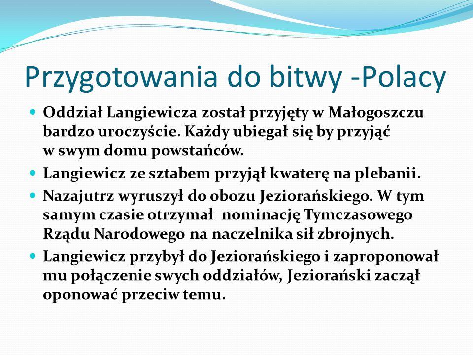 Przygotowania do bitwy -Polacy