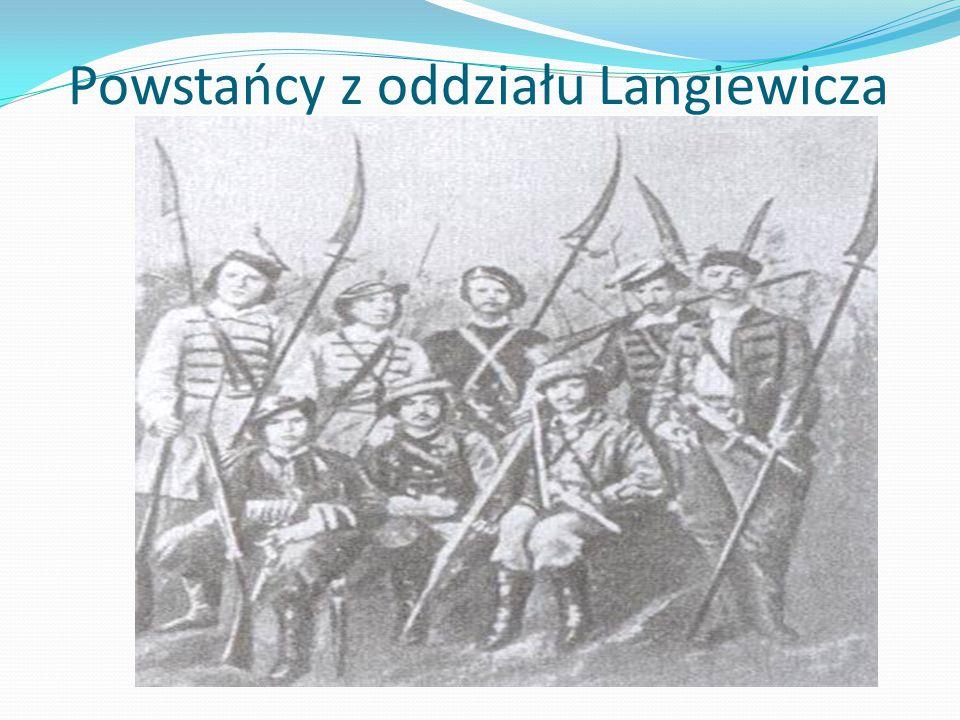 Powstańcy z oddziału Langiewicza
