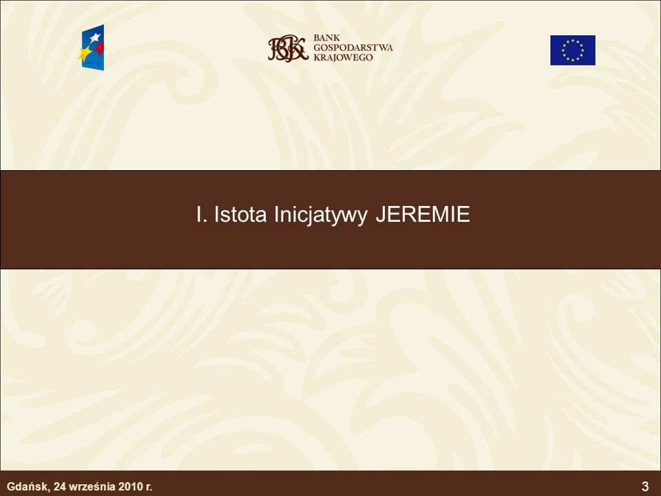 I. Istota Inicjatywy JEREMIE