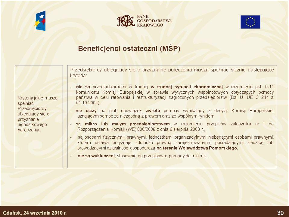 Beneficjenci ostateczni (MŚP)