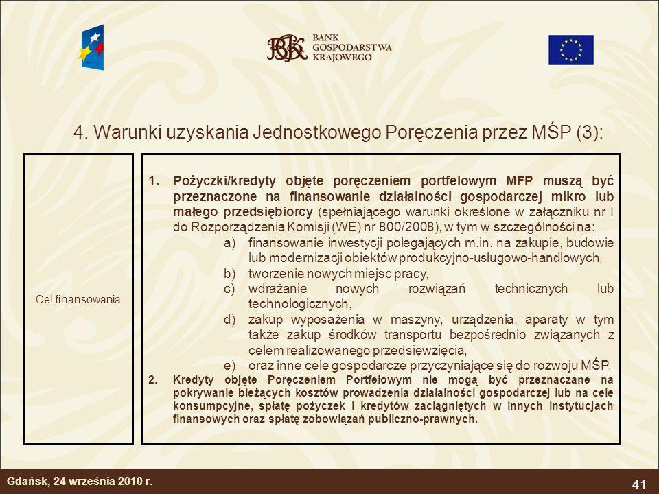 4. Warunki uzyskania Jednostkowego Poręczenia przez MŚP (3):