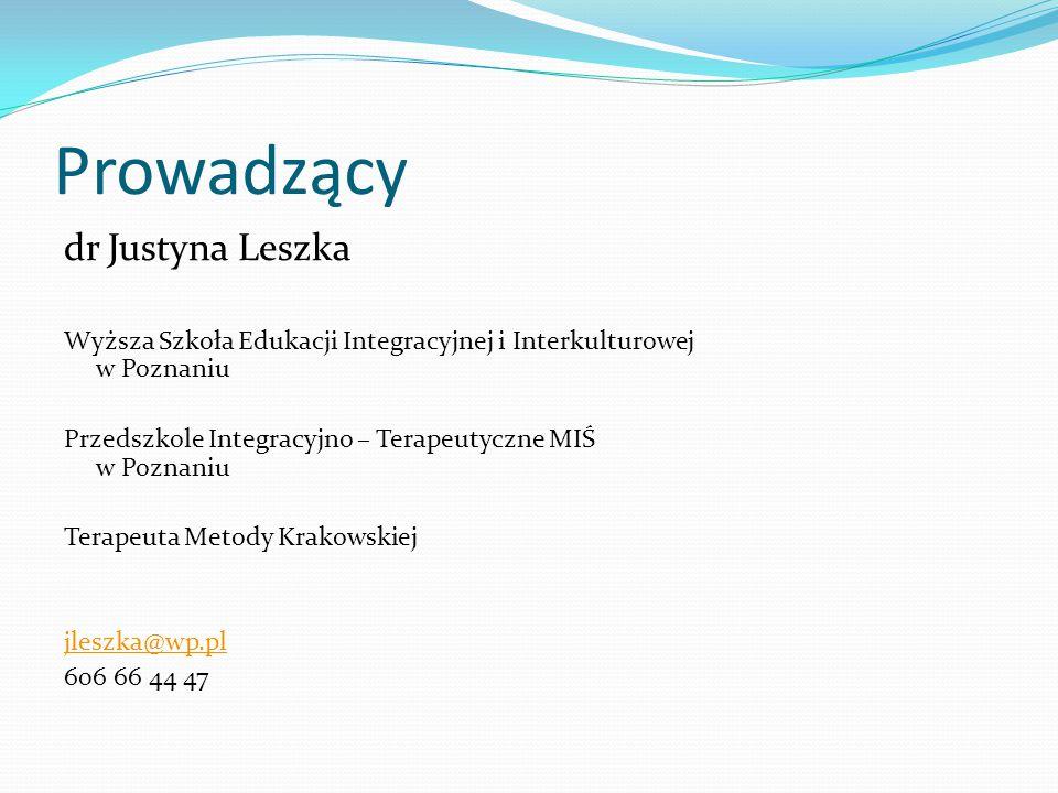 Prowadzący dr Justyna Leszka