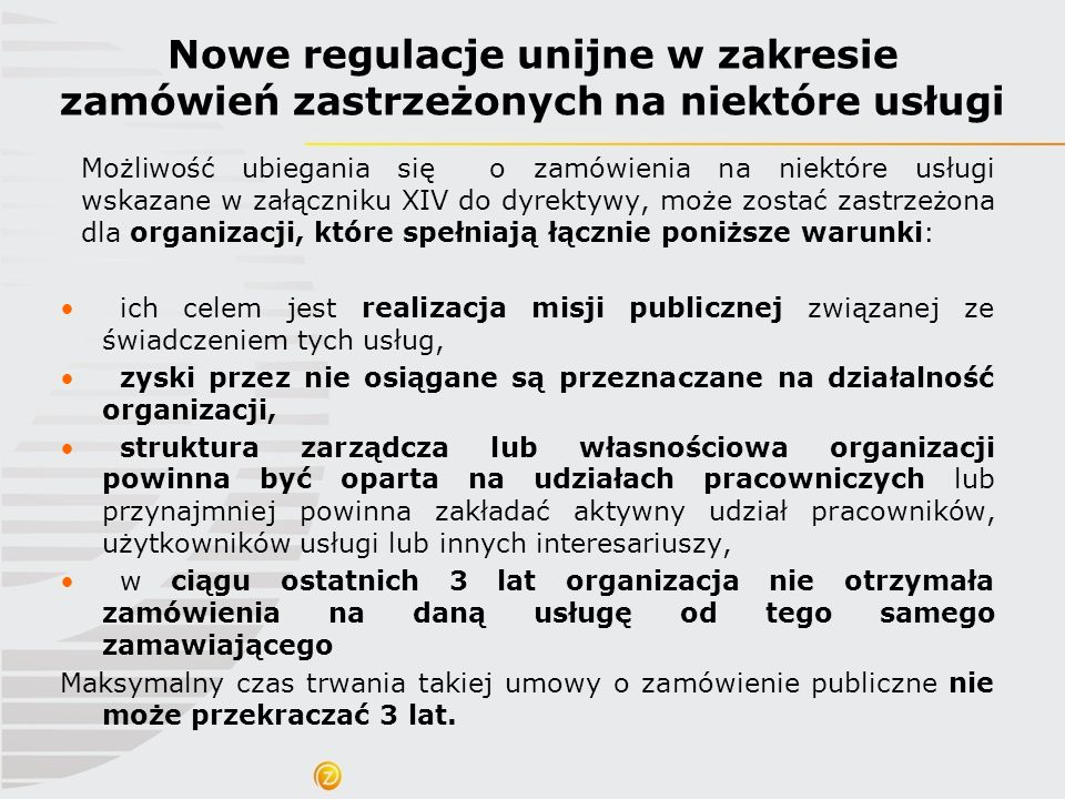 Nowe regulacje unijne w zakresie zamówień zastrzeżonych na niektóre usługi