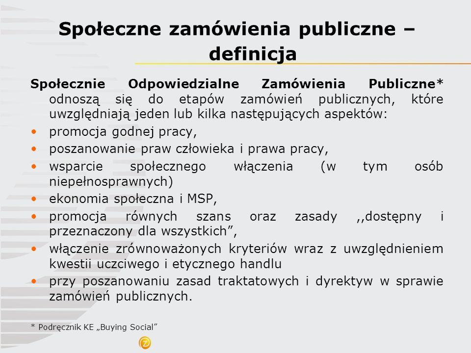 Społeczne zamówienia publiczne – definicja