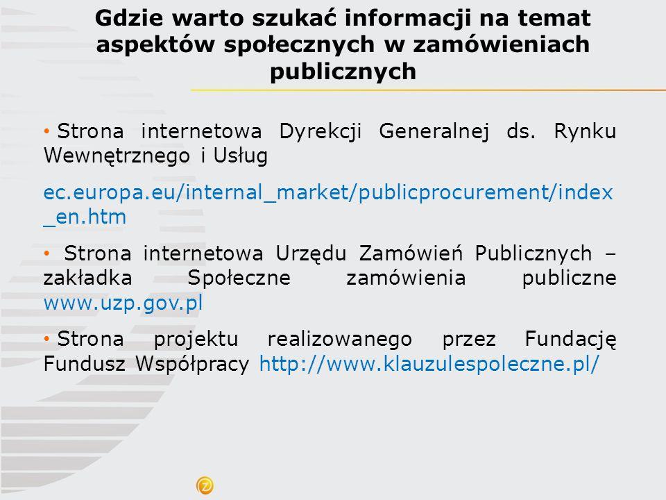 Gdzie warto szukać informacji na temat aspektów społecznych w zamówieniach publicznych