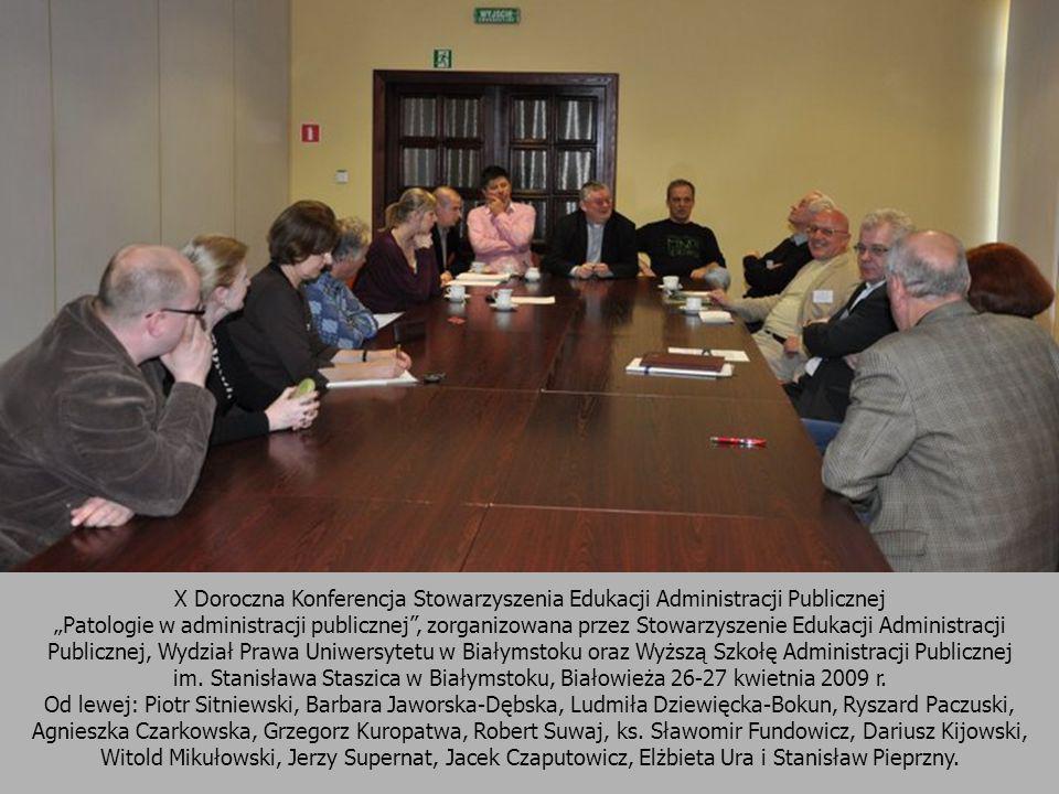 X Doroczna Konferencja Stowarzyszenia Edukacji Administracji Publicznej