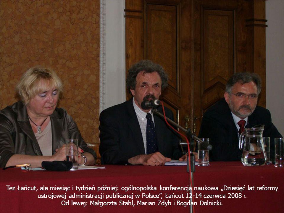 Od lewej: Małgorzta Stahl, Marian Zdyb i Bogdan Dolnicki.