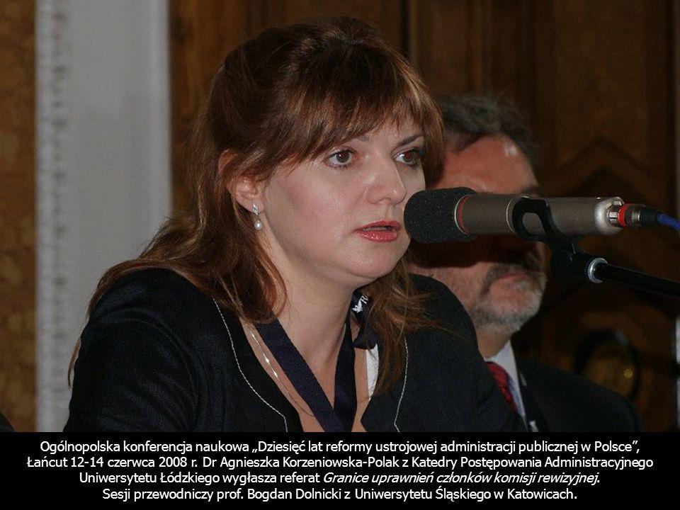 """Ogólnopolska konferencja naukowa """"Dziesięć lat reformy ustrojowej administracji publicznej w Polsce ,"""