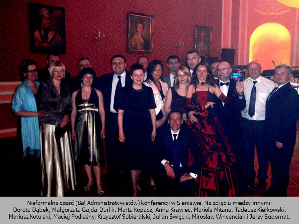 Nieformalna część (Bal Administratywistów) konferencji w Sieniawie