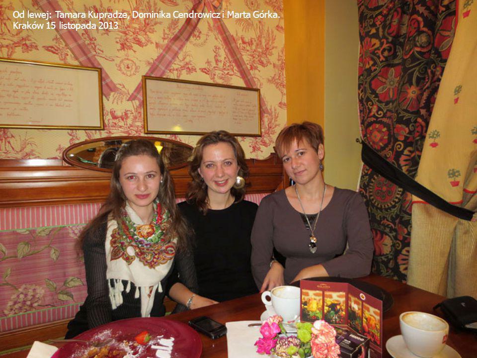 Od lewej: Tamara Kupradze, Dominika Cendrowicz i Marta Górka.