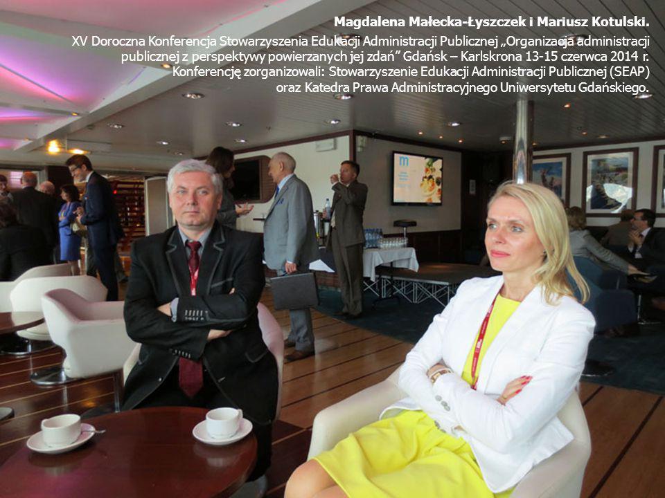 Magdalena Małecka-Łyszczek i Mariusz Kotulski.