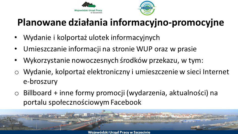 Planowane działania informacyjno-promocyjne