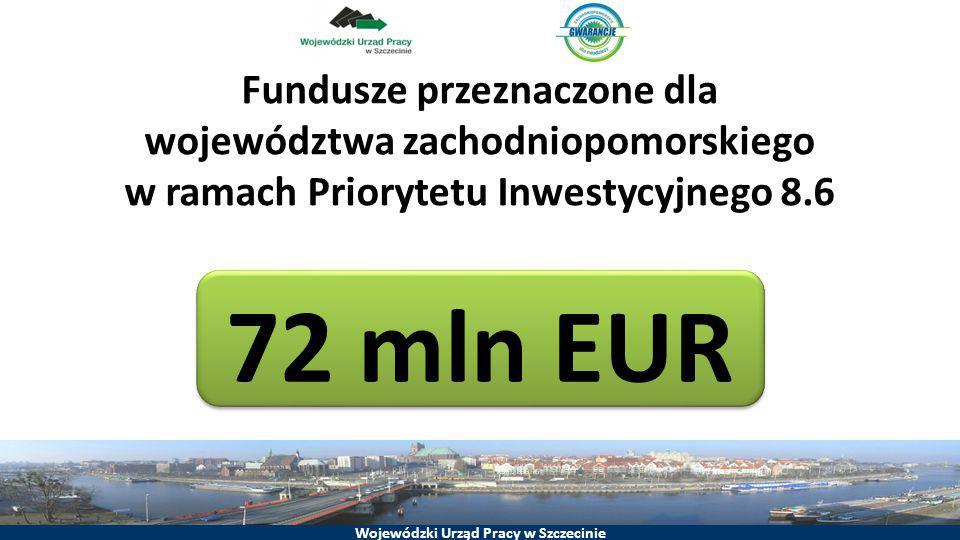 Fundusze przeznaczone dla województwa zachodniopomorskiego w ramach Priorytetu Inwestycyjnego 8.6