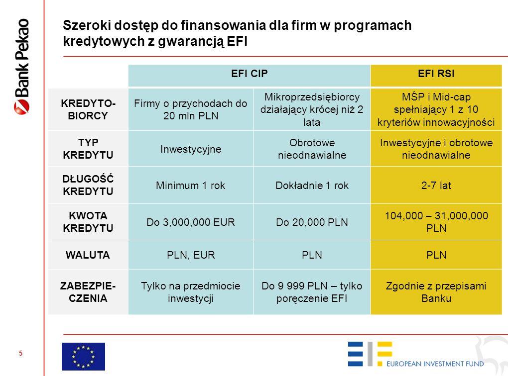 Kto może skorzystać z kredytów z gwarancją EFI