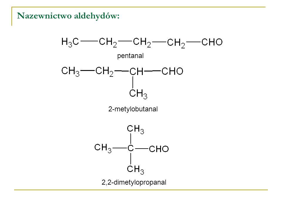 Nazewnictwo aldehydów:
