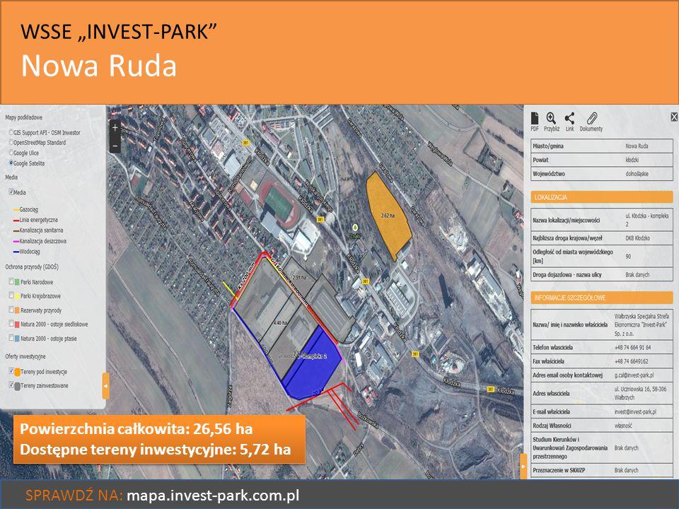 "Nowa Ruda WSSE ""INVEST-PARK Powierzchnia całkowita: 26,56 ha"
