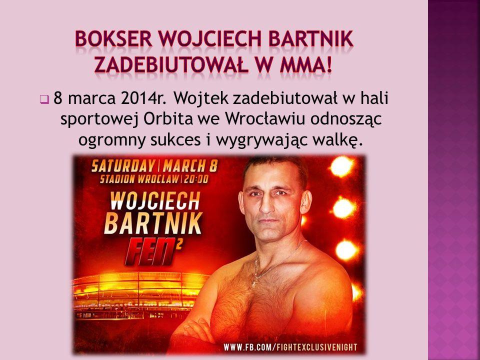 Bokser Wojciech Bartnik zadebiutował w mma!