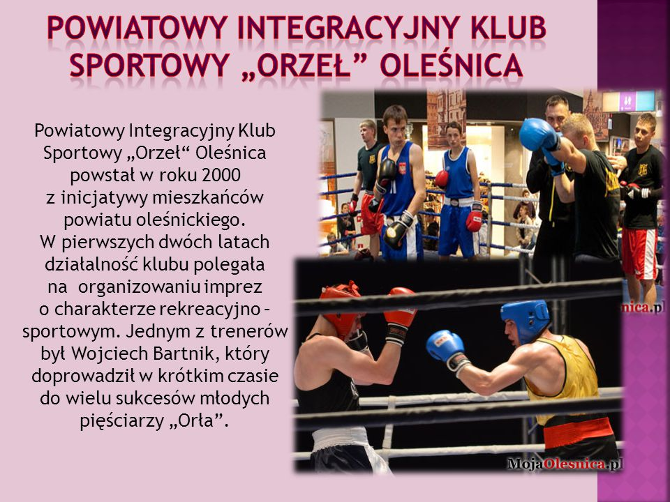 """Powiatowy Integracyjny Klub Sportowy """"Orzeł Oleśnica"""