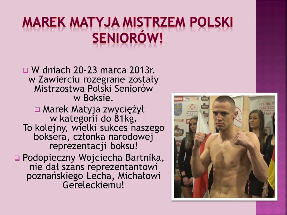 Marek Matyja Mistrzem Polski Seniorów!
