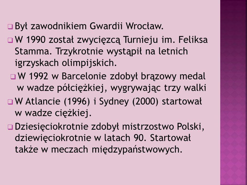 Był zawodnikiem Gwardii Wrocław.