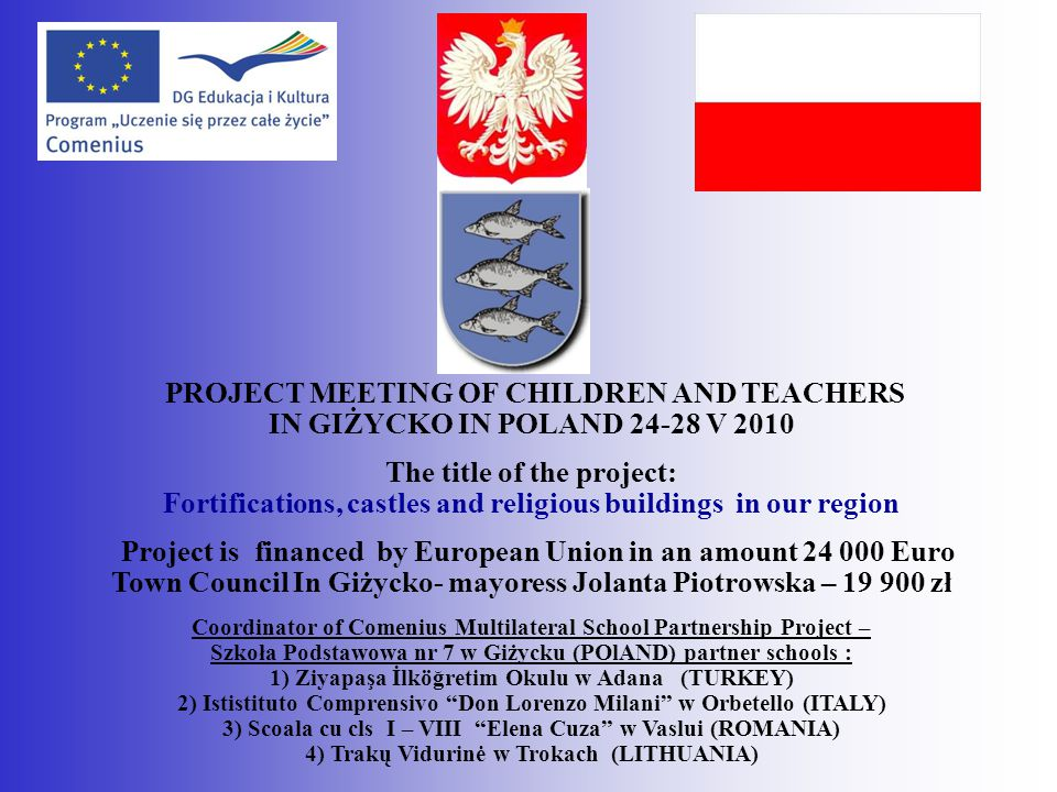 PROJECT MEETING OF CHILDREN AND TEACHERS