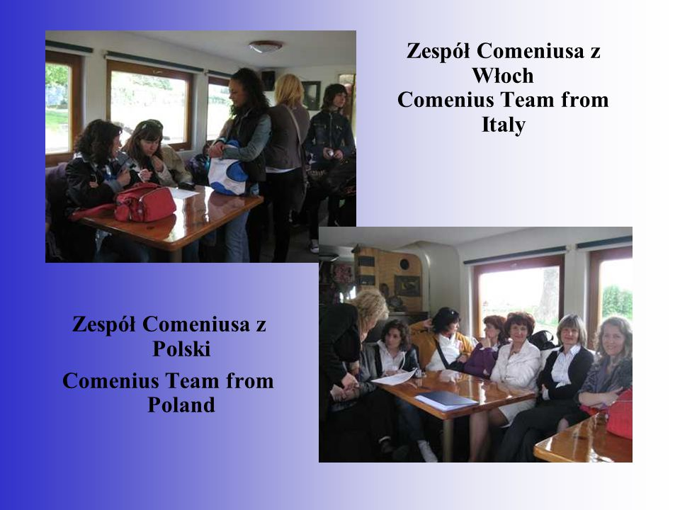 Zespół Comeniusa z Włoch Comenius Team from Italy