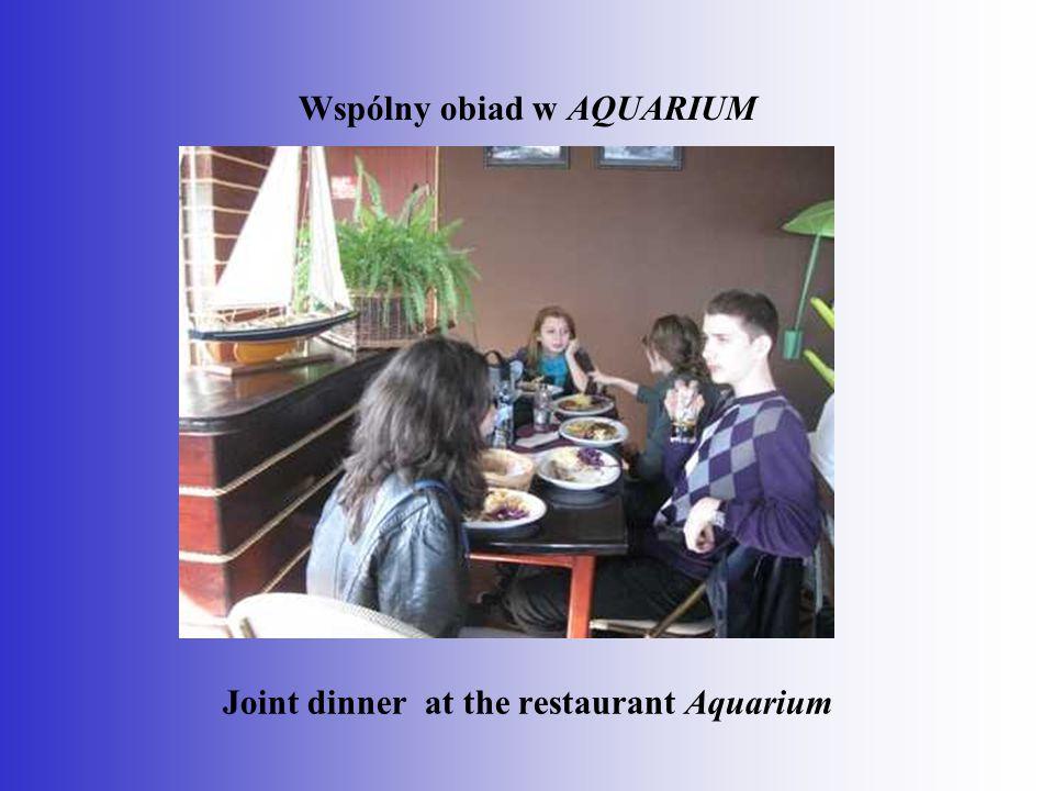 Wspólny obiad w AQUARIUM