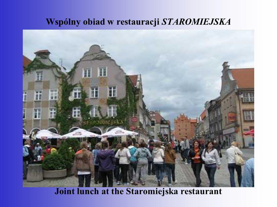 Wspólny obiad w restauracji STAROMIEJSKA