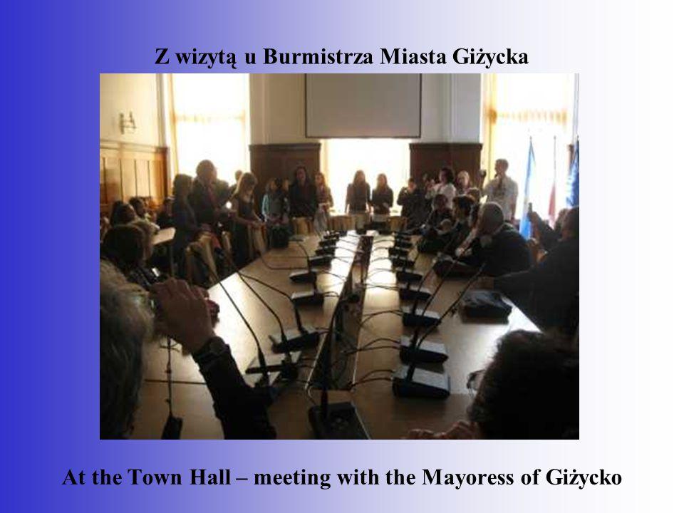 Z wizytą u Burmistrza Miasta Giżycka