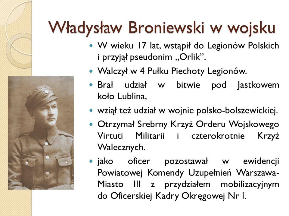 Władysław Broniewski w wojsku
