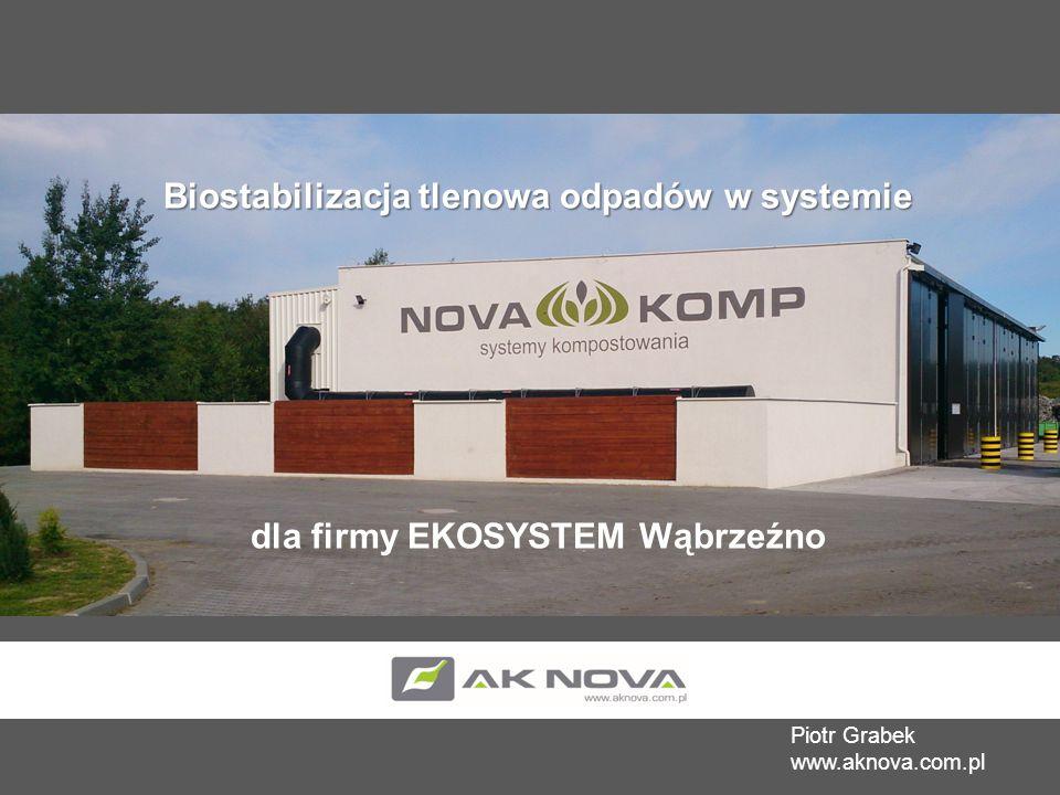 Biostabilizacja tlenowa odpadów w systemie