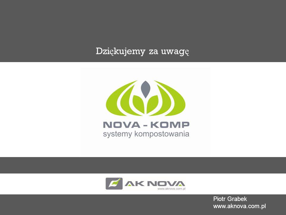 Dziękujemy za uwagę Piotr Grabek www.aknova.com.pl