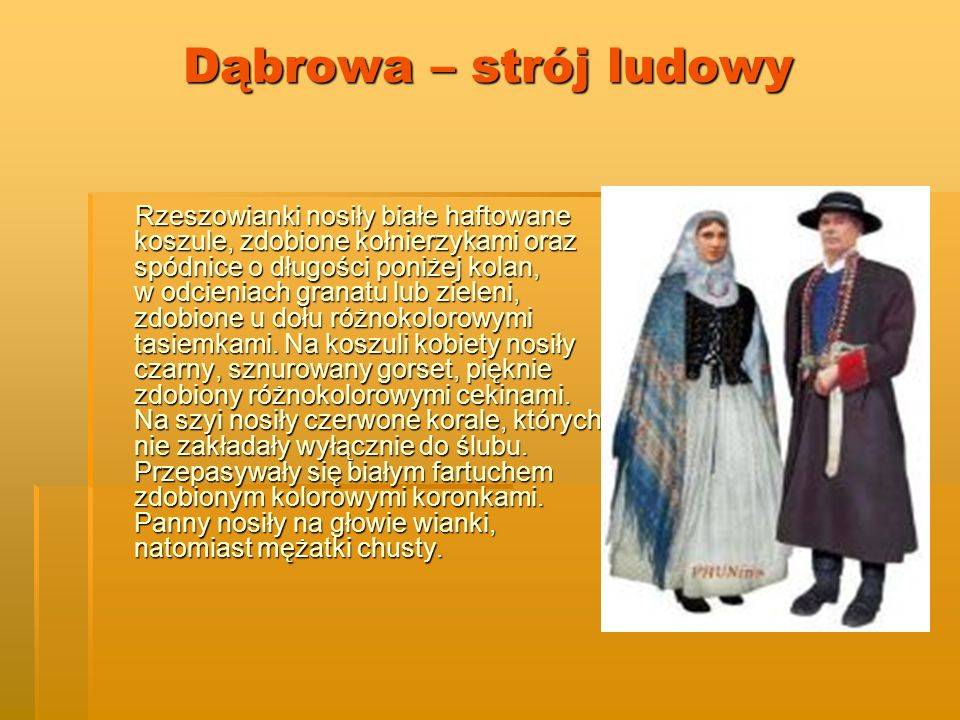 Dąbrowa – strój ludowy