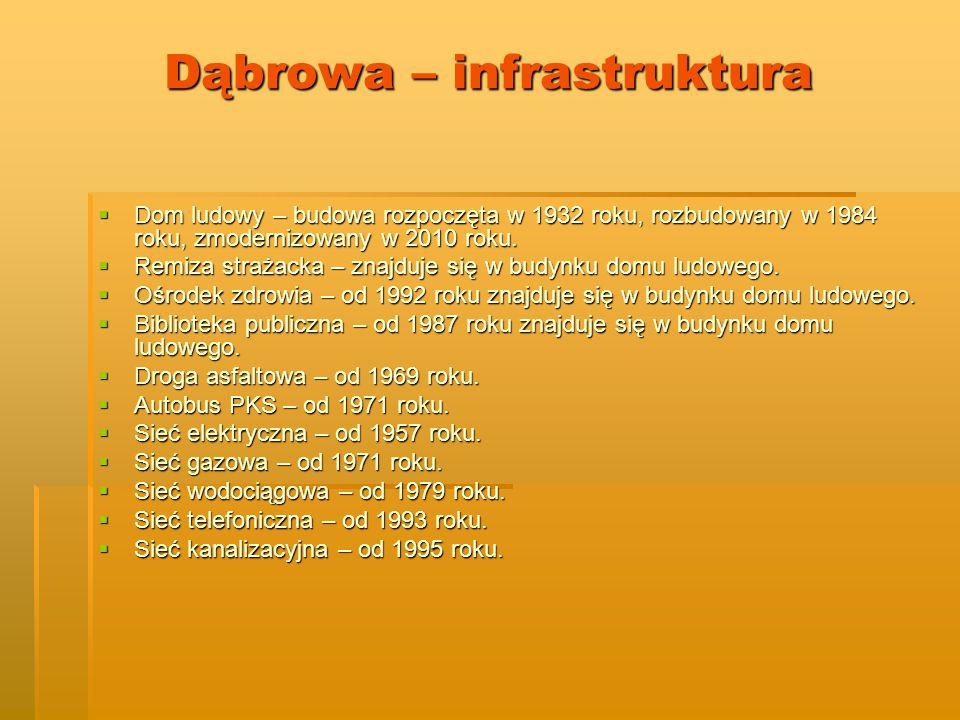 Dąbrowa – infrastruktura