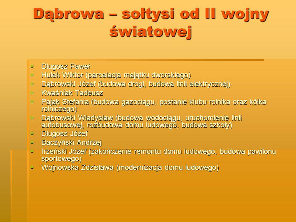 Dąbrowa – sołtysi od II wojny światowej