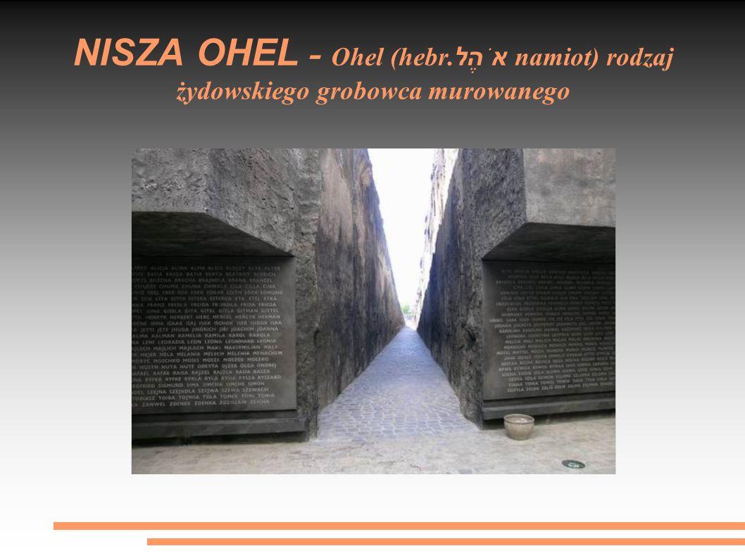 NISZA OHEL - Ohel (hebr.אֹהֶל namiot) rodzaj żydowskiego grobowca murowanego