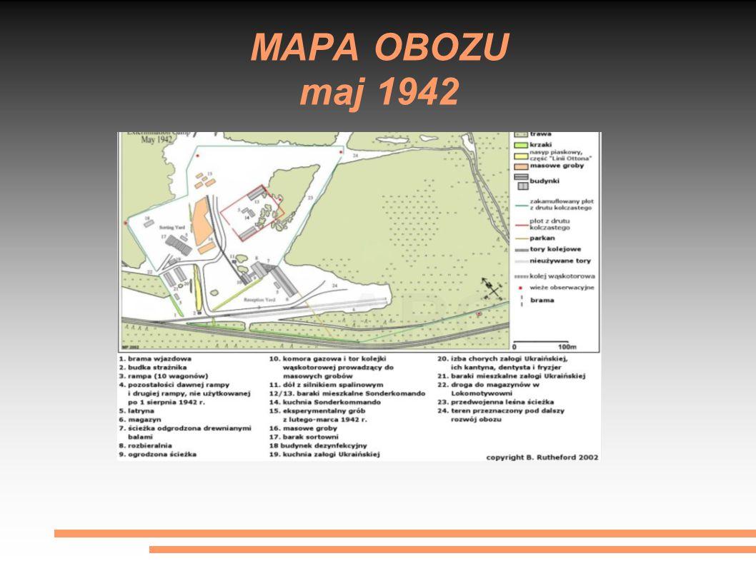 MAPA OBOZU maj 1942