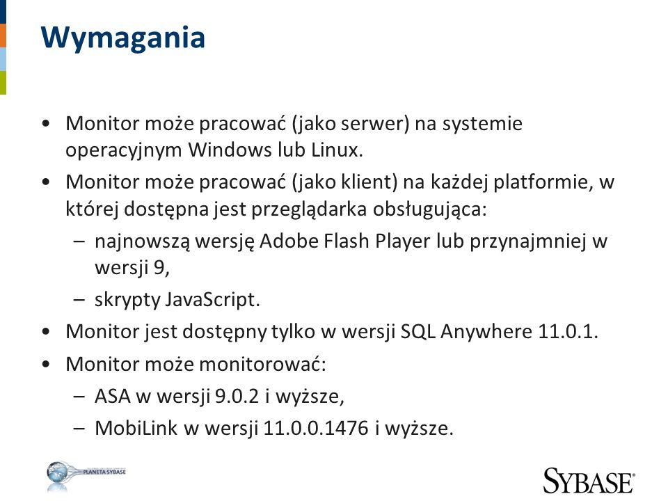 Wymagania Monitor może pracować (jako serwer) na systemie operacyjnym Windows lub Linux.