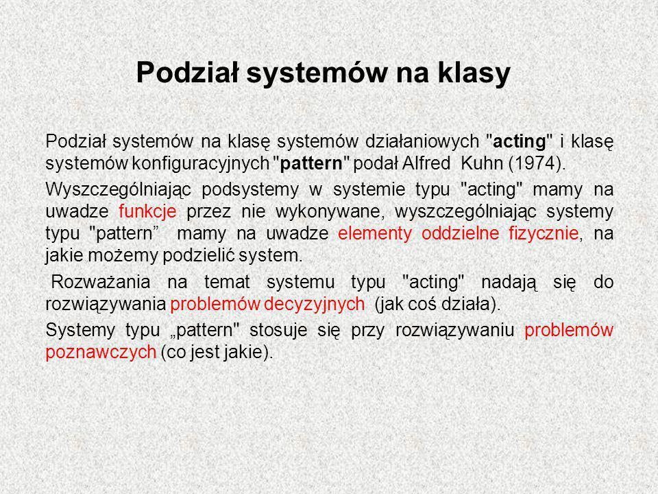 Podział systemów na klasy