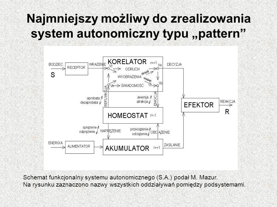"""Najmniejszy możliwy do zrealizowania system autonomiczny typu """"pattern"""