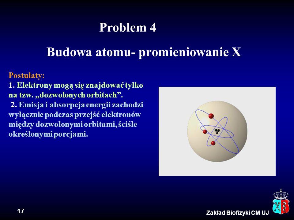 Budowa atomu- promieniowanie X