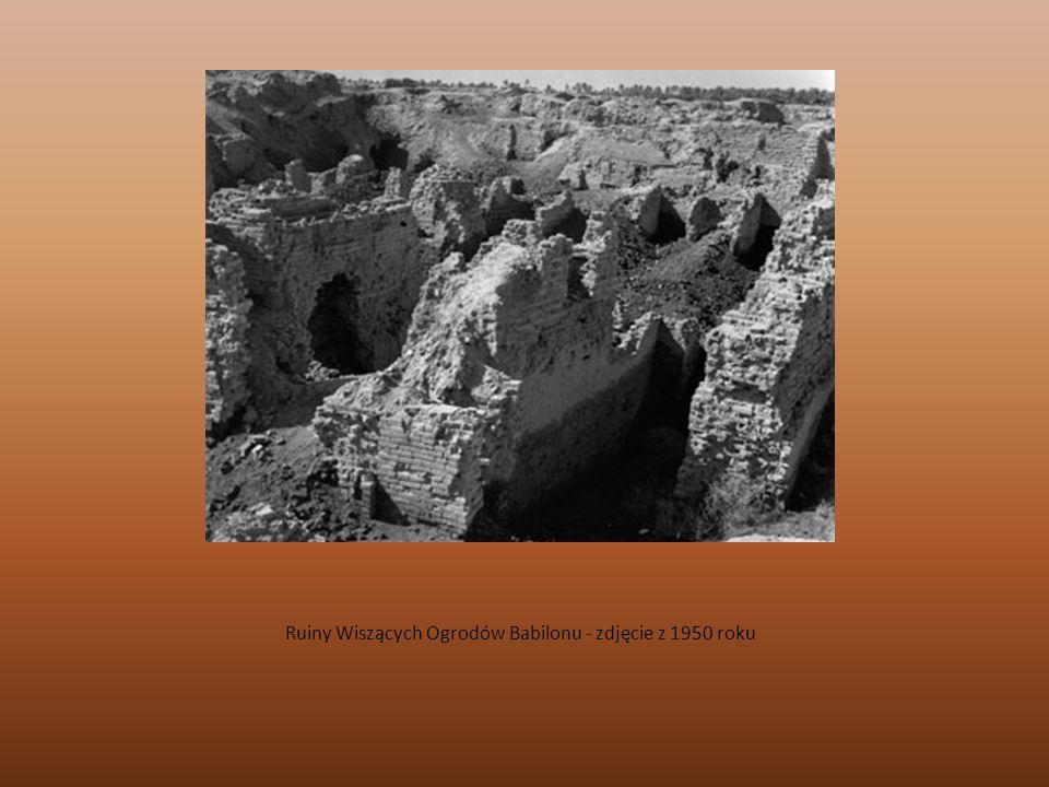 Ruiny Wiszących Ogrodów Babilonu - zdjęcie z 1950 roku