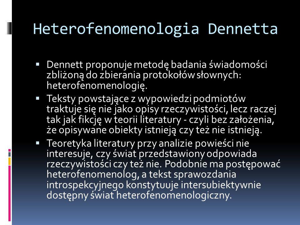 Heterofenomenologia Dennetta