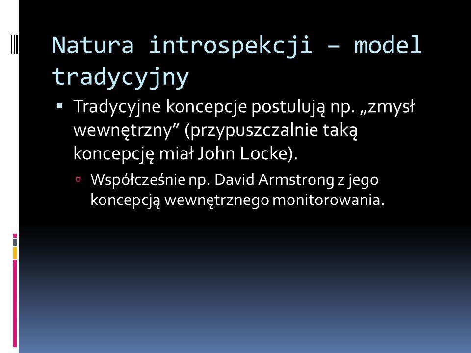 Natura introspekcji – model tradycyjny