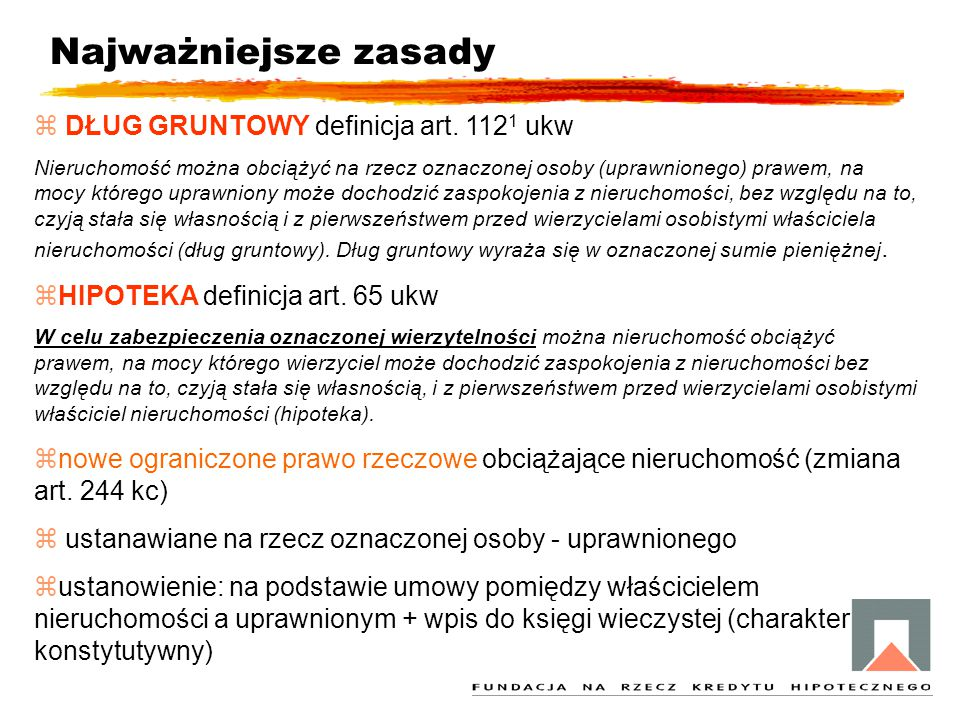 Najważniejsze zasady DŁUG GRUNTOWY definicja art. 1121 ukw